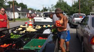 Recipients Picking Up Food