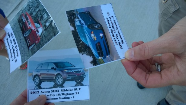 Virtual vehicles given to the students.