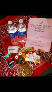 One of the Girl Scout Troop care packages.