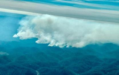 Smoke from the fires.