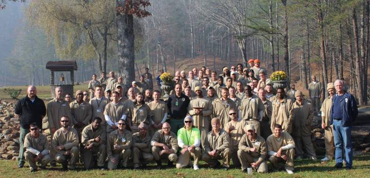 Inmates even helped with the firefighting efforts.