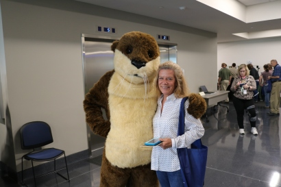 Ollie the Otter and Lissa Doss.