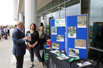 Amy Sohner from Bluegrass Greensource and EEC Secretary Charles Snavley.