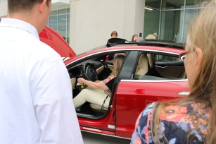 Trying out the Tesla S.
