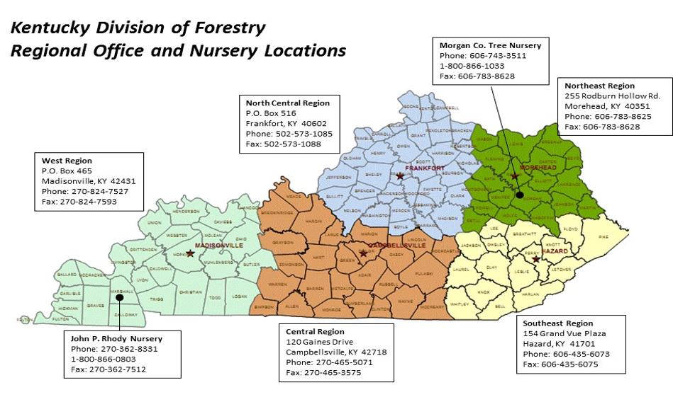 Regional Office Map