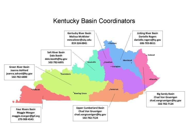 Basin Coordinator Contact Map