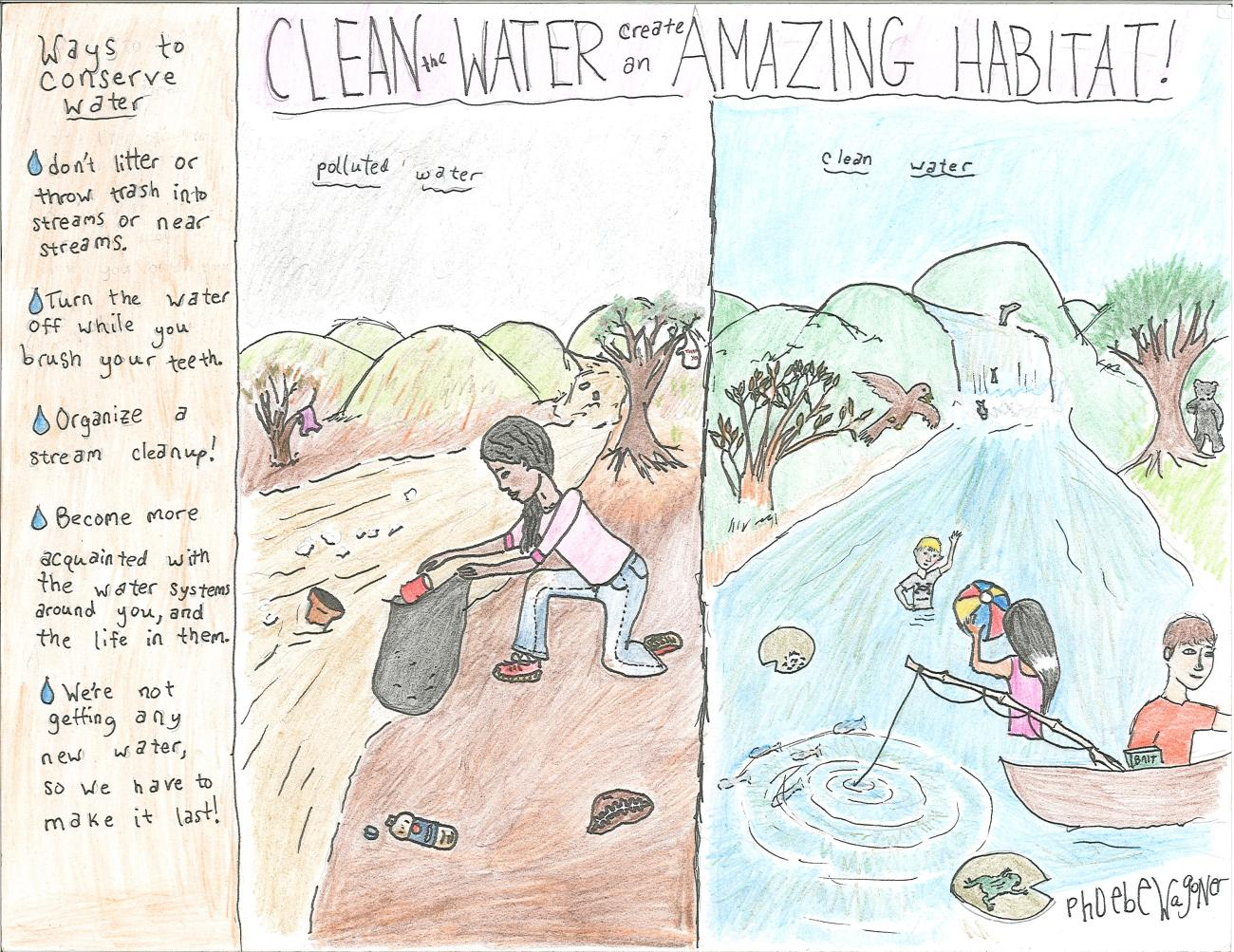 State 1st Place winner for Water in 2013 by Pheobe Wagoner for Nicholas Co.