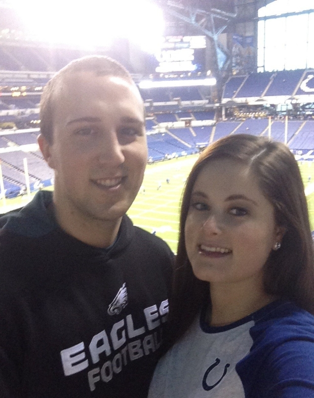 Charles Higgenbotham and his fiancé, Brooklyn Payne.