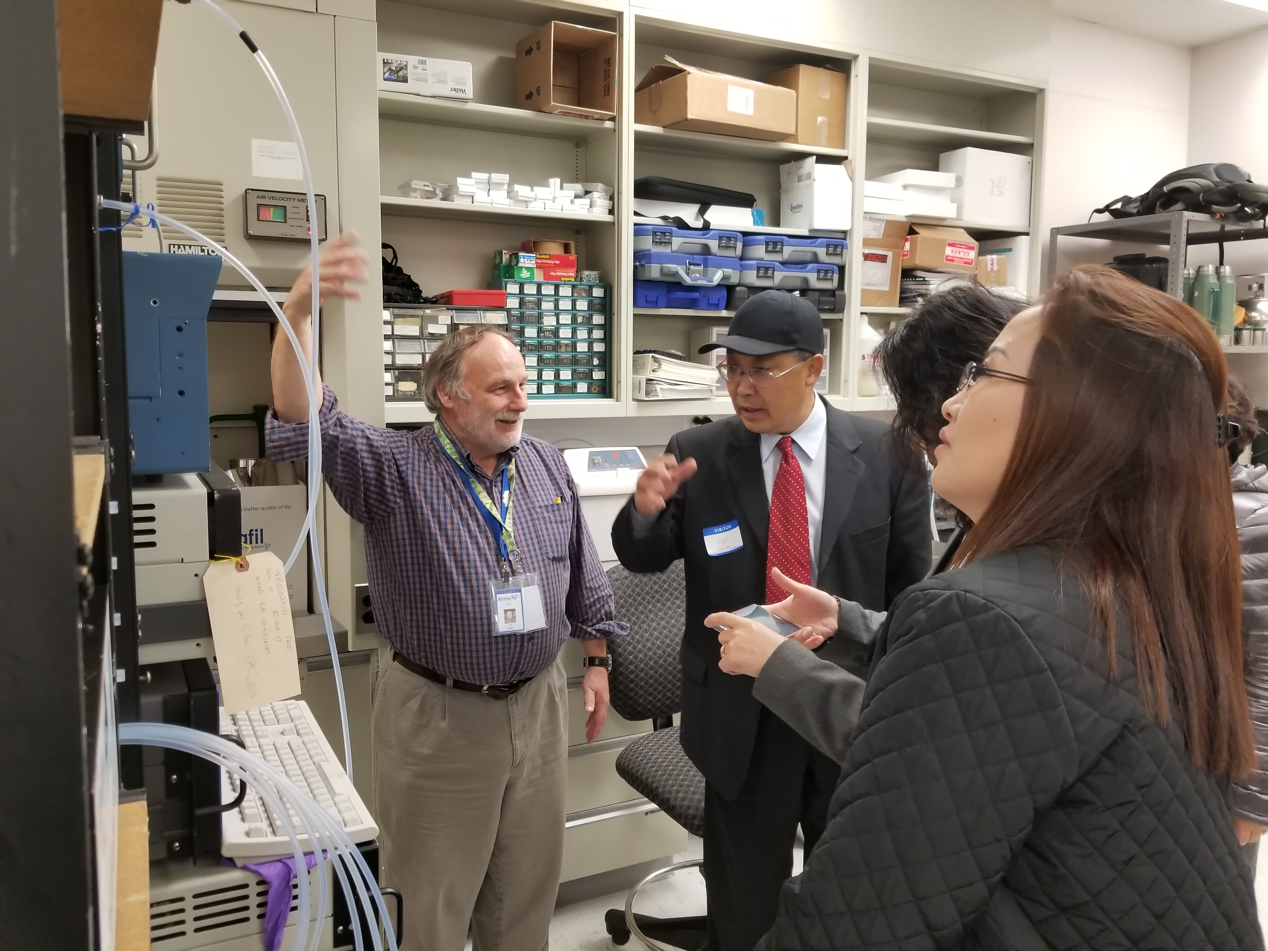 In the lab, Environmental Scientist John Walker describes some of the air monitoring methods used by the Division for AirQuality.