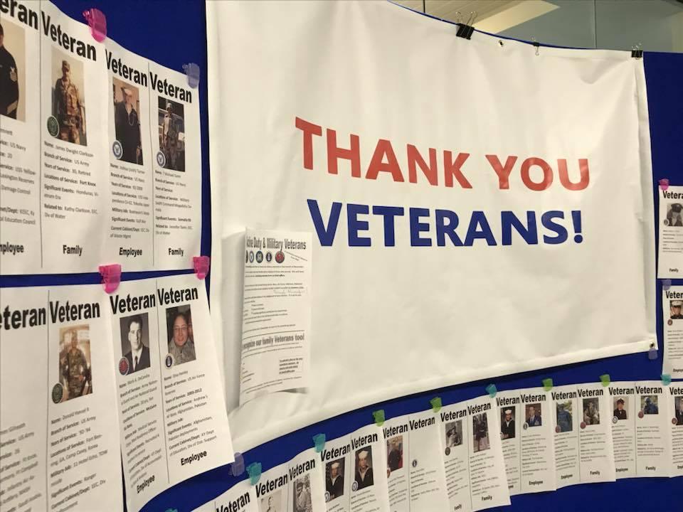 Honoring Veterans Wall