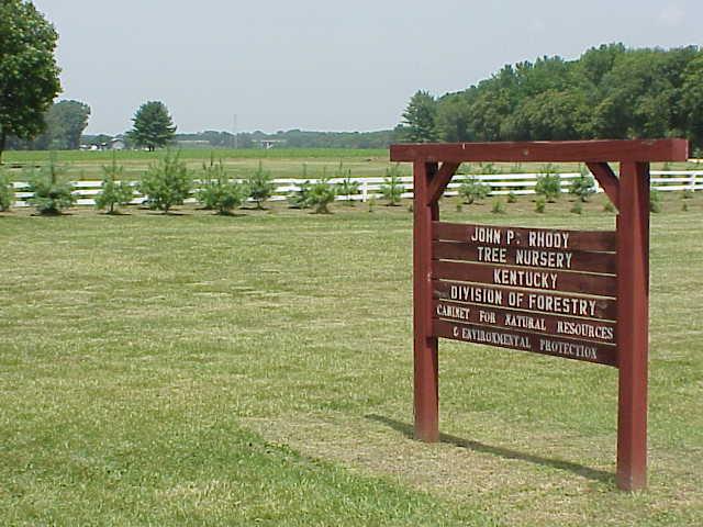 John P. Rhody Nursery sign.