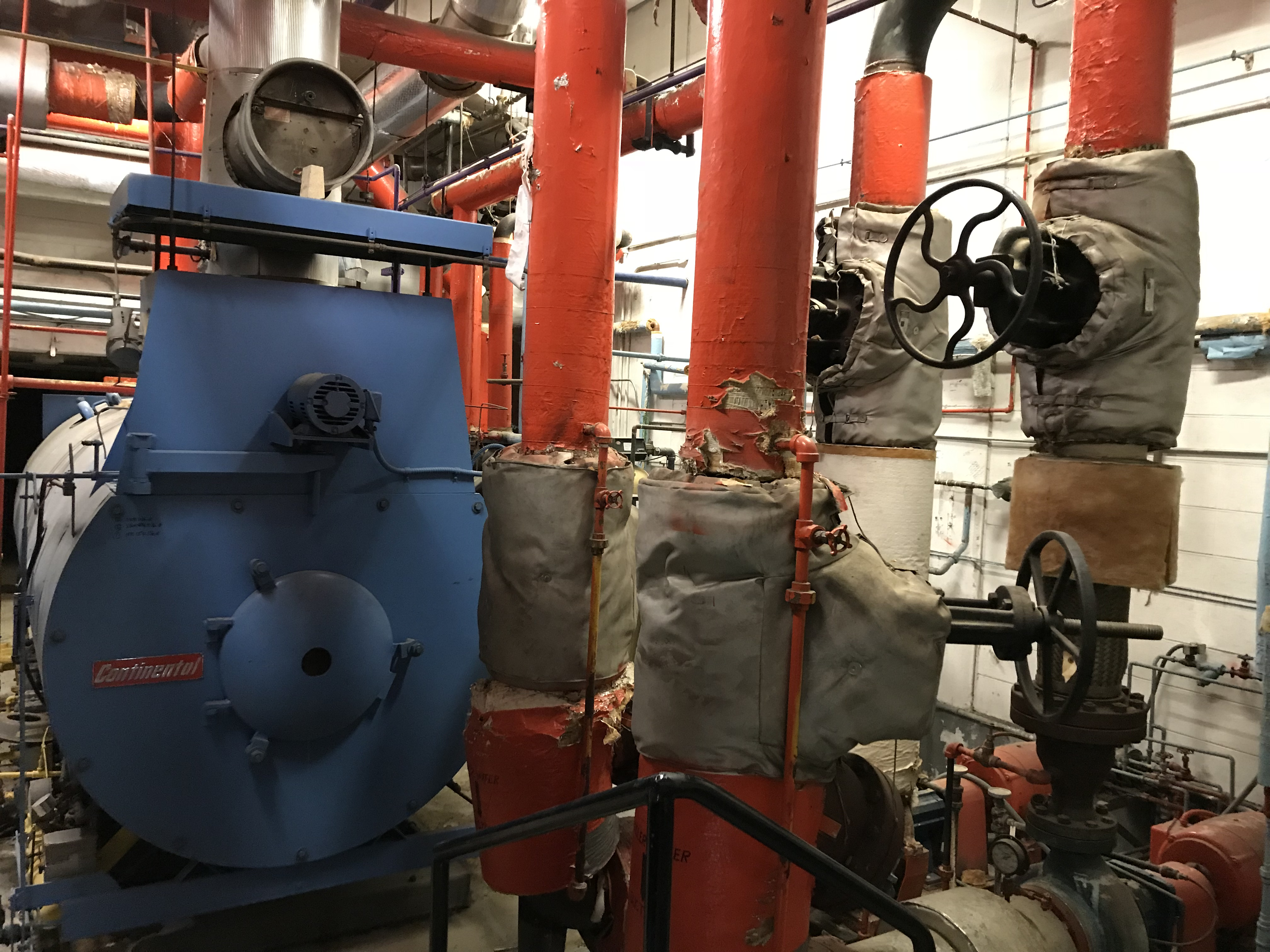 Basement boiler room.