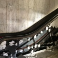 Escalators stripped of marble.