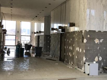 Lobby elevators.