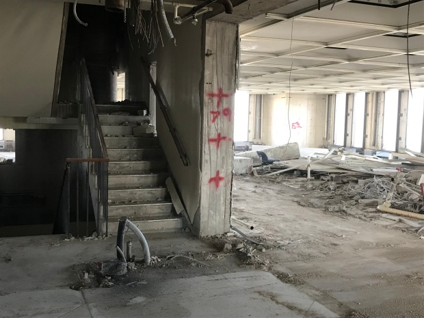The 15th floor stairwell. Photo by Roberta Burnes.