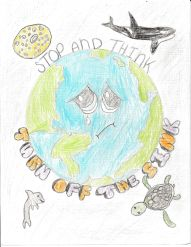 Carli Conley's winning artwork.