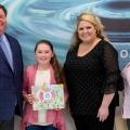 Abigail McCowan receives her award.