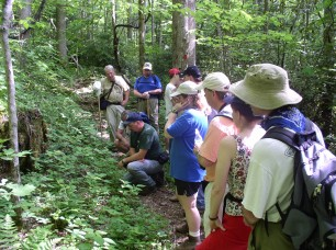 Bad Branch offers guided hikes to inform the public of what the preserve has to offer and what it also protects. KSNPC photo.