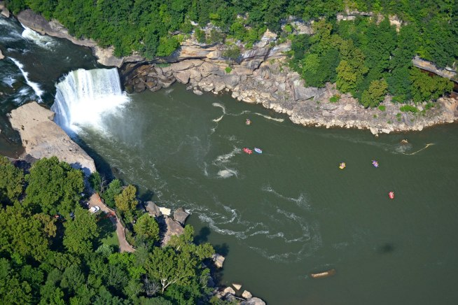 Cumberland Falls is a popular destination for outdoor enthusiasts.  Photo by Jay Hamon.