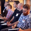 Distillers take notes at the 2017 Sustainable Spirits Summit.