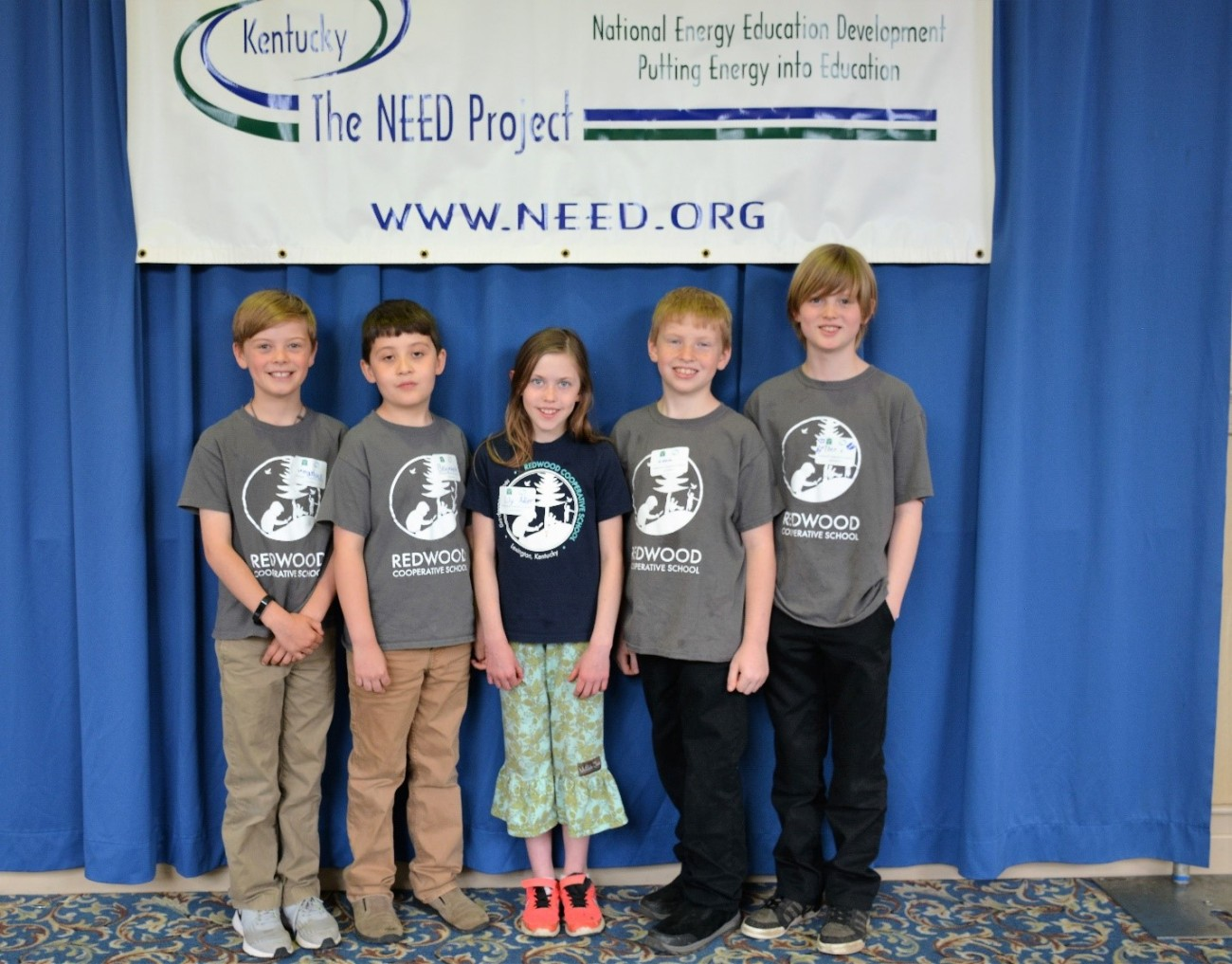 Students from Redwood Cooperative School who completed both a Kentucky NEED project as well as a Kentucky Green and Healthy Schools project in a single school year.