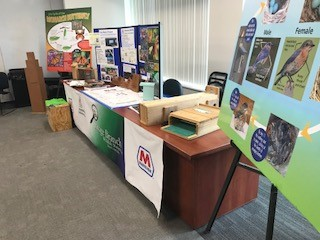 The Catlettsburg Refinery, LLC, display table which featured various projects they have completed through the years. Photo by Carrie Searcy.