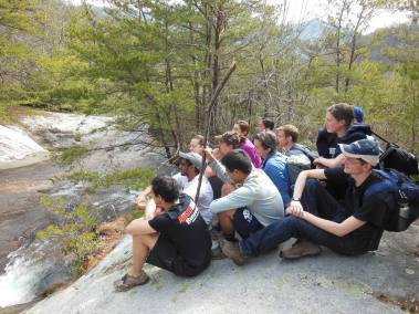 Lucy E. Braun hiking group.
