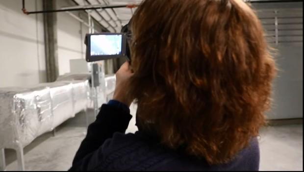 The FLIR camera is demonstrated.