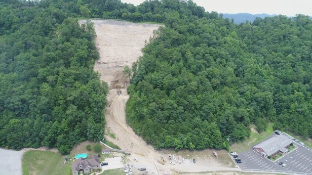A drone's view of an active AML site in Pike County.