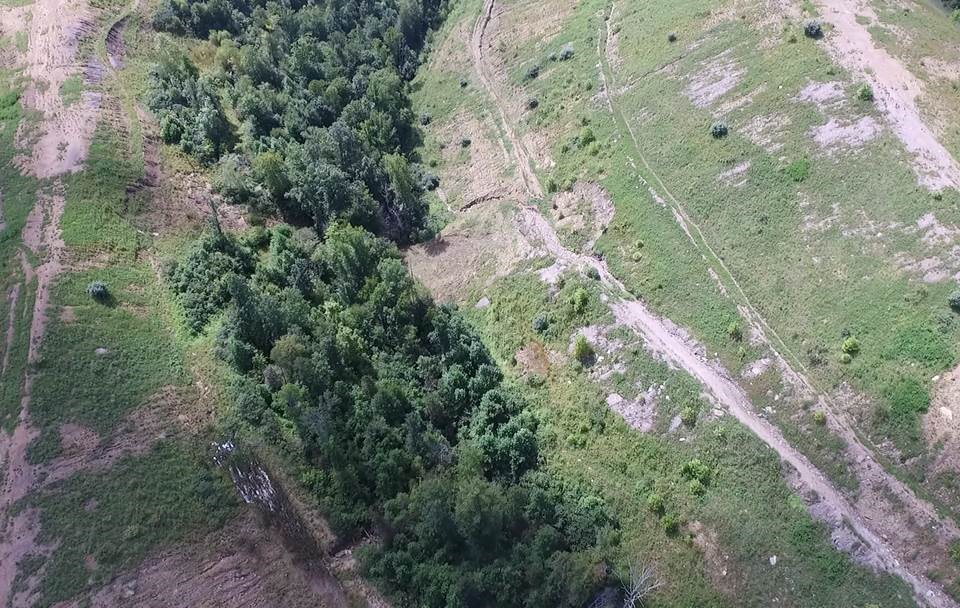Drone overview of forfeited permit land in JohnsonCounty.
