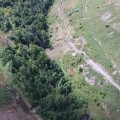 Drone overview of forfeited permit land in Johnson County.