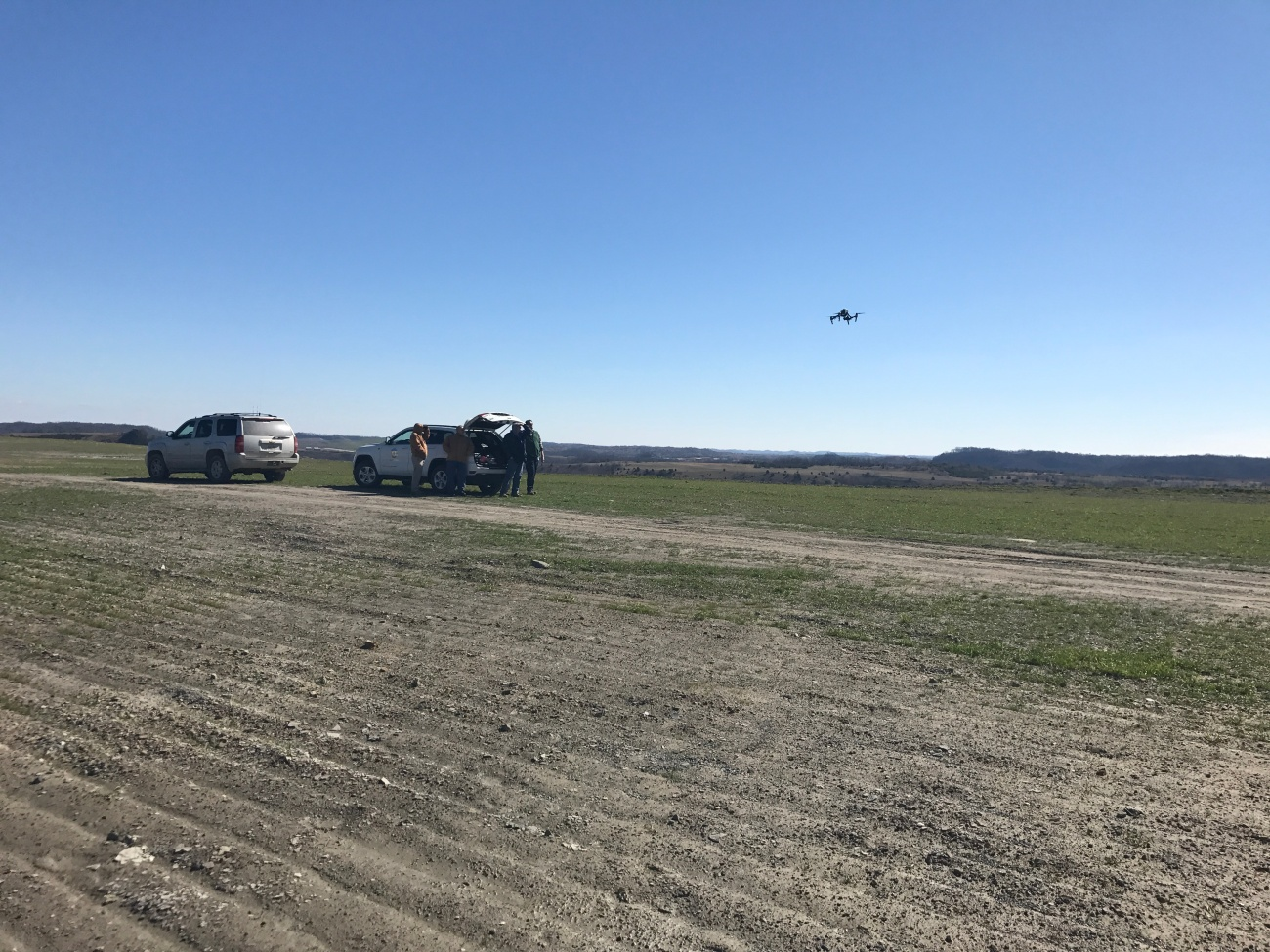 The DMRE drone is flown on a site in Eastern Ky.