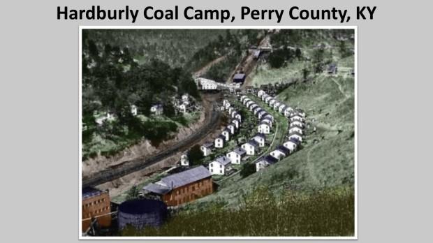Hardburly Coal Camp circa 1930.