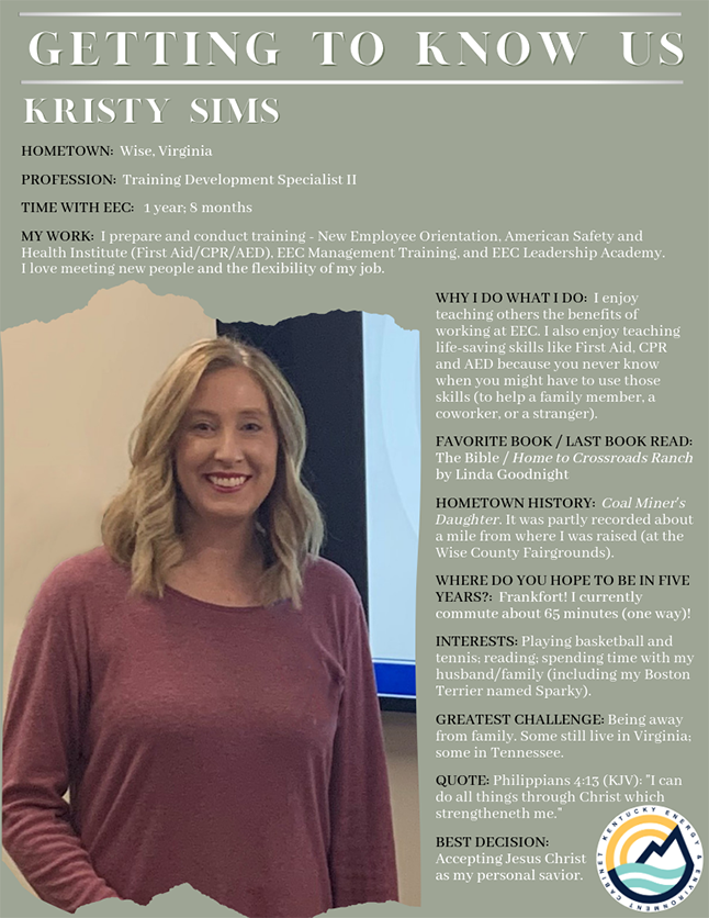 Getting to Know Us: Kristy Sims