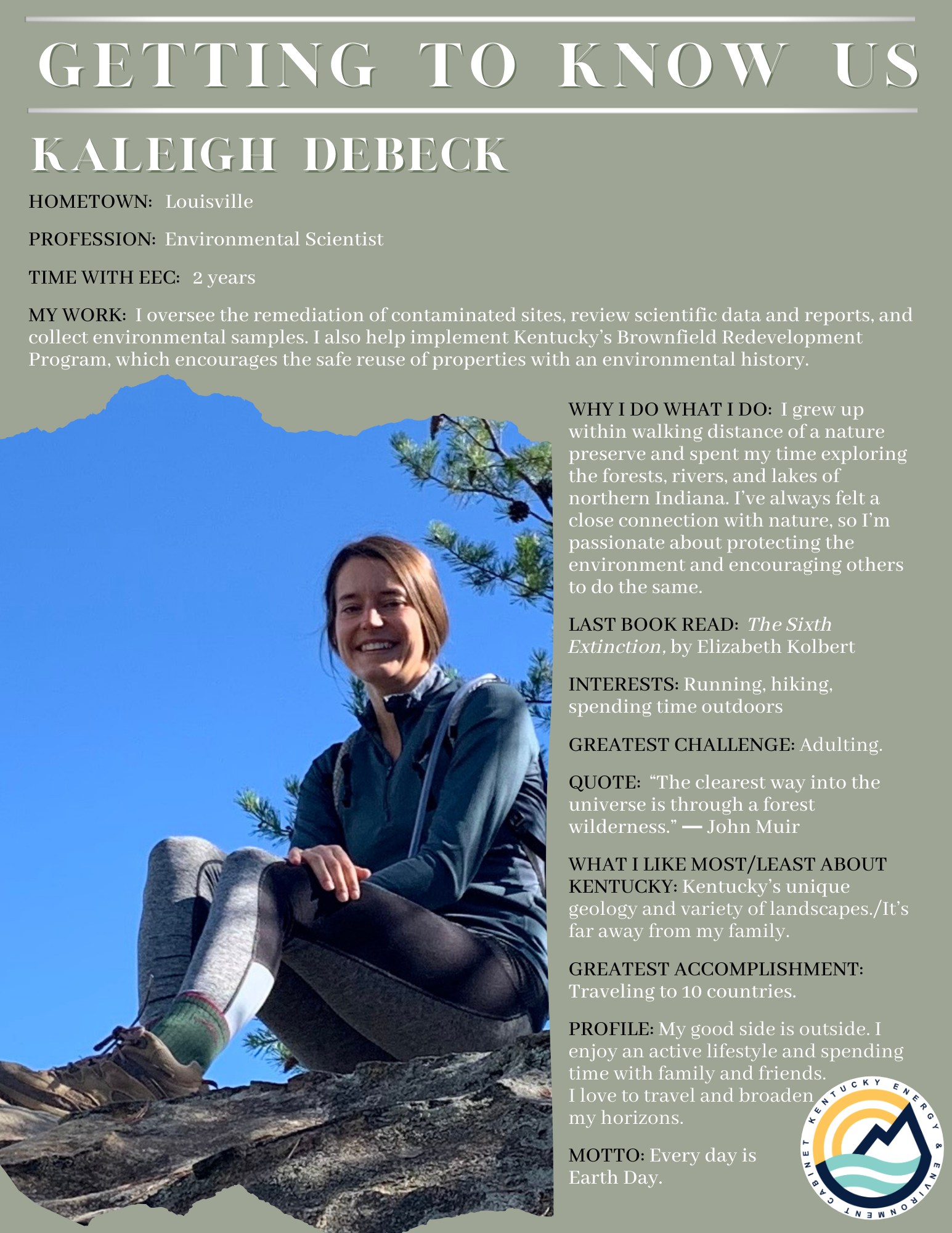 Getting to Know Us: Kaleigh Debeck