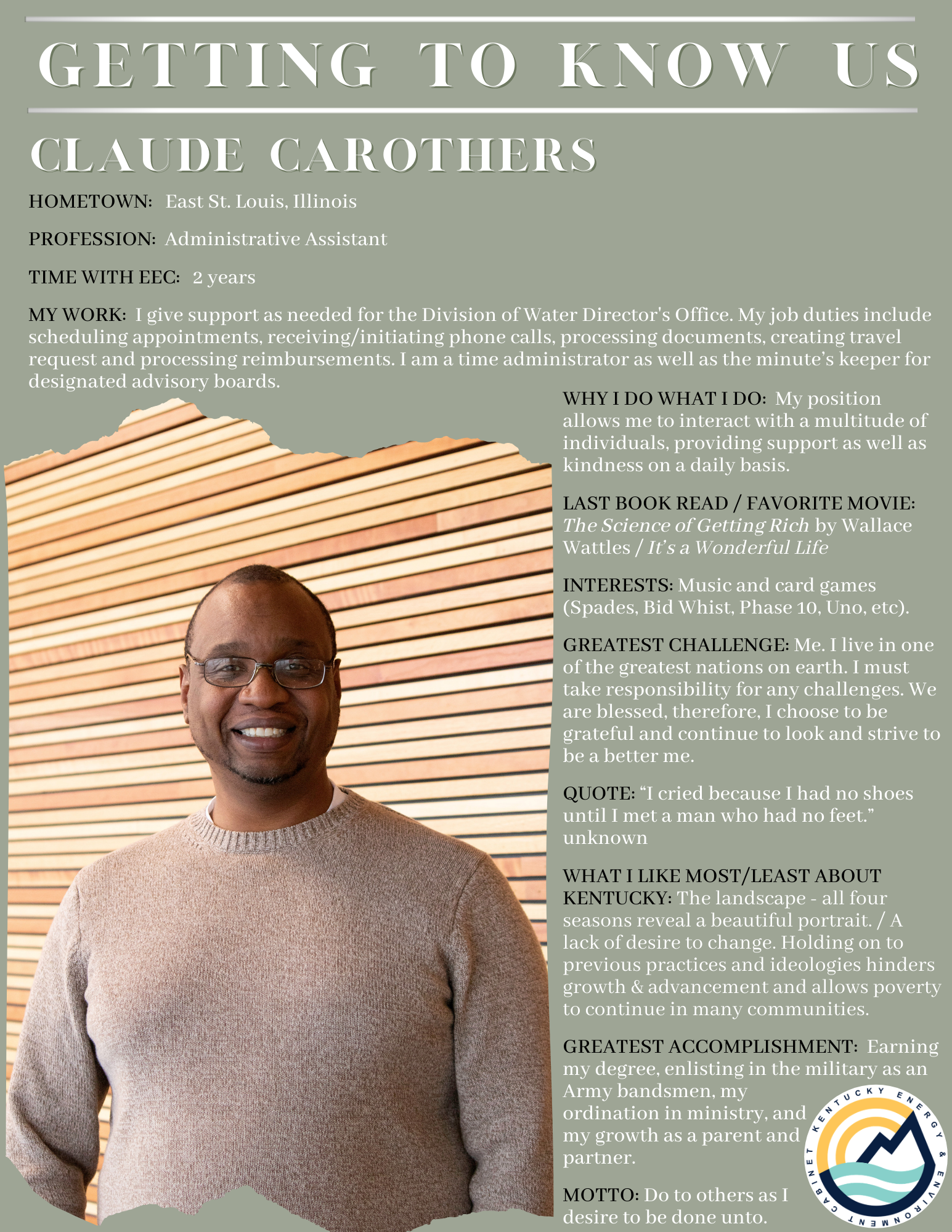 Getting to Know Us: Claude Carothers