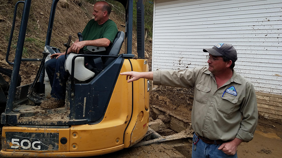 The Work of Saving Lives and Properties Can't Slide: Division of Abandoned Mine Lands Continues Providing Emergency Assistance