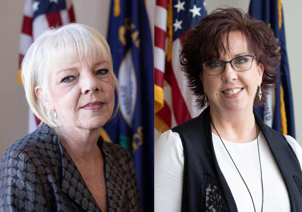 Energy and Environment Cabinet Special Assistant Jan Velez (left) and Executive Secretary Judy Tingle (right)